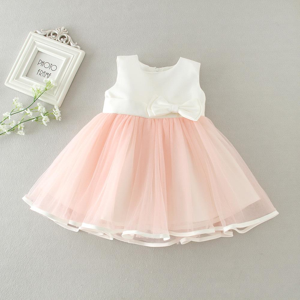 DMfgd New Born Baby Girl Dresses Princess Tutu Dress New Baby Kids Fancy Party Costumes Beauty Dress Flowers Girls Ball Gown