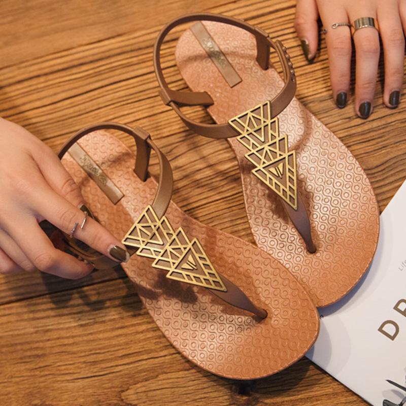 Señoras Playa Bohemias De Chanclas Plana Las 2019 Mujer Verano Zapatos Sandalias Marca Zapatillas Mujeres xCerodB