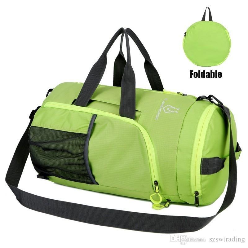 f371224c7263 Foldable Sport Shoulder bag Training Gym Handbag Multifunction Men Women  Fitness Bags Waterproof Outdoor Backpack Sporting Tote #853295