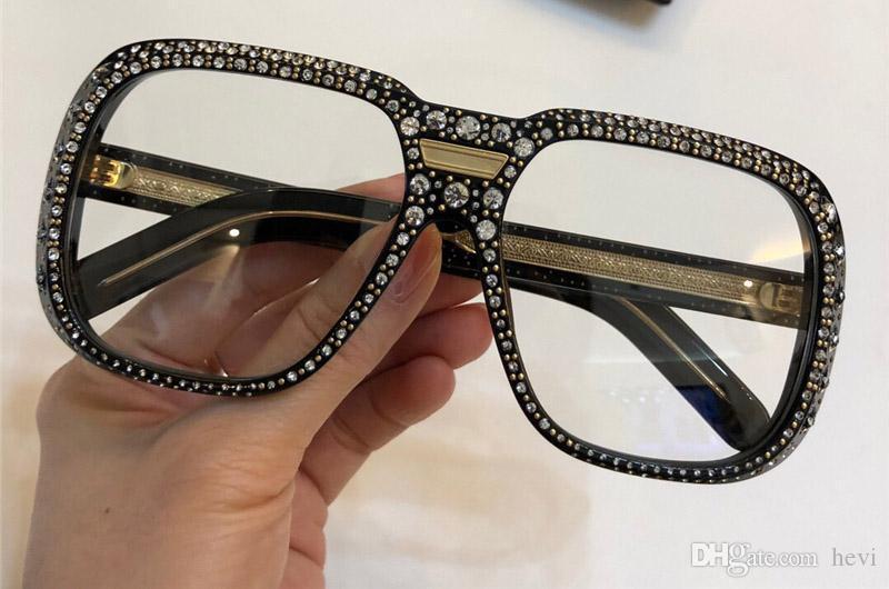 New Luxury Designer 0427 Sunglasses For Women With Diamond