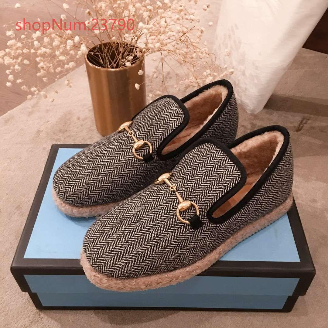 luxury design 2019 high quality cotton shoes indoor and outdoor wool casual shoes winter warm couple shoe non-slip soft sole loafers s02