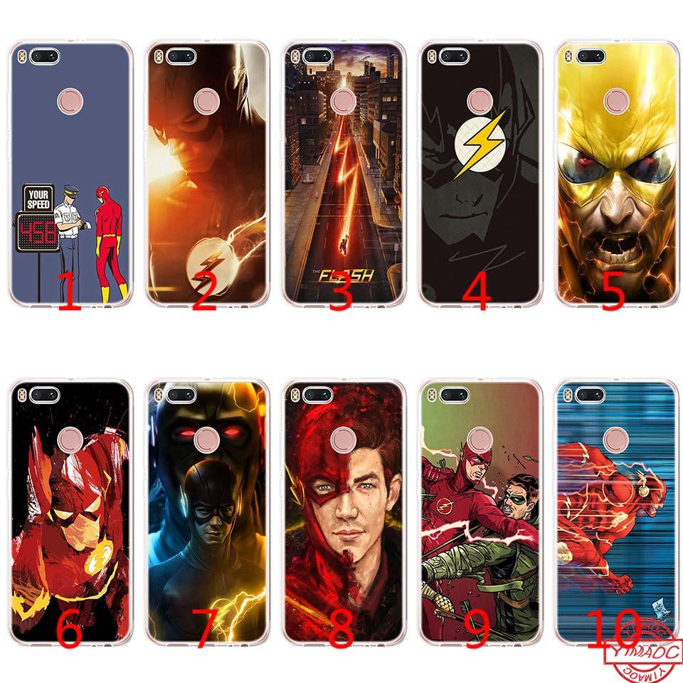 The Flash Cool Speed Soft Silicone TPU Phone Case for Xiaomi Mi A2 Lite A1  5X 6X 8 SE 6 Mix 2S Cover