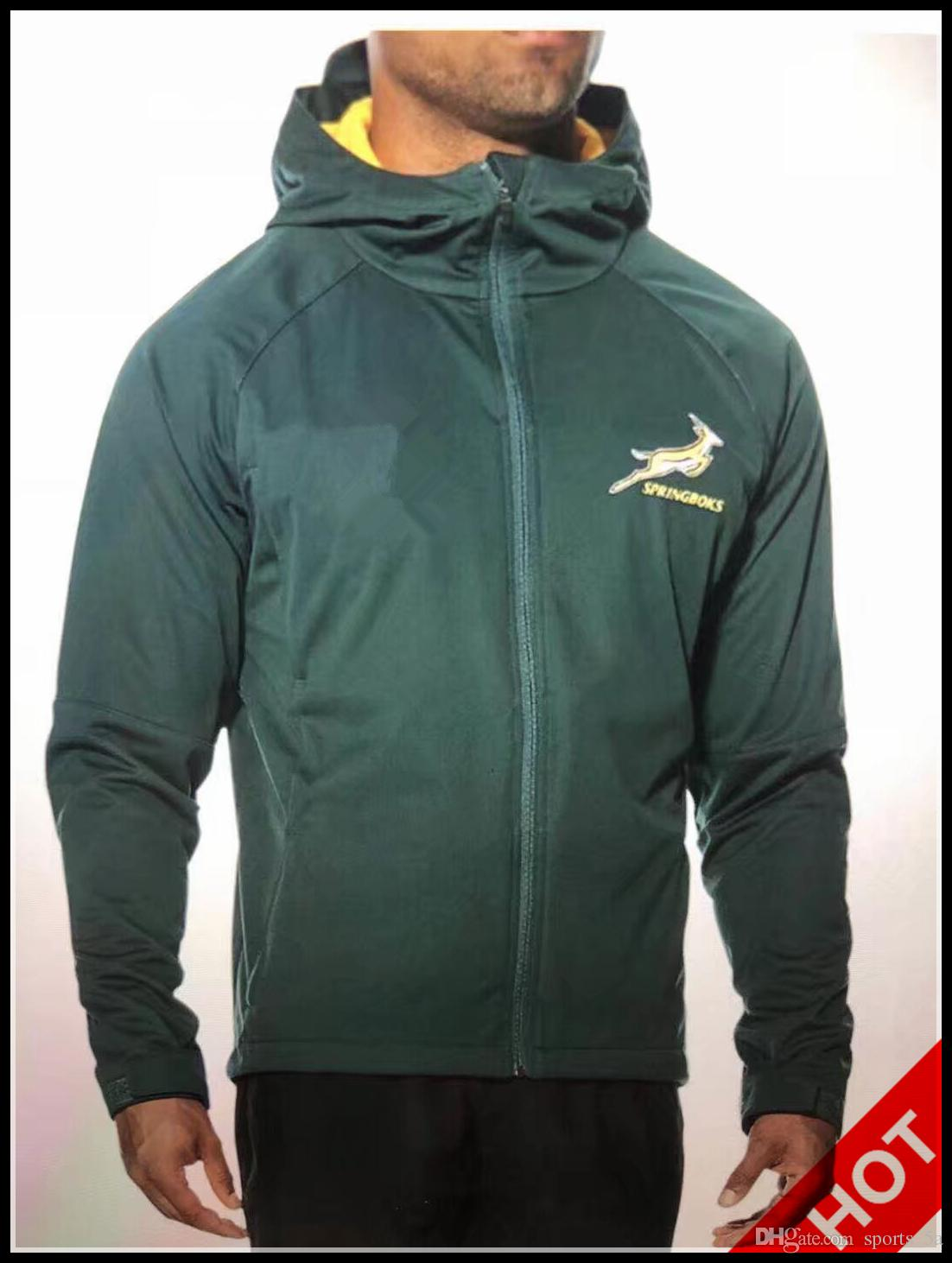 7d7215c3963 Hot Sales 2019 South Africa Home Jersey SPRINGBOK SIDE LINER JACKET Hoodies  South African National Team Rugby Jerseys Hoodie Jacket S-3xl South Africa  ...