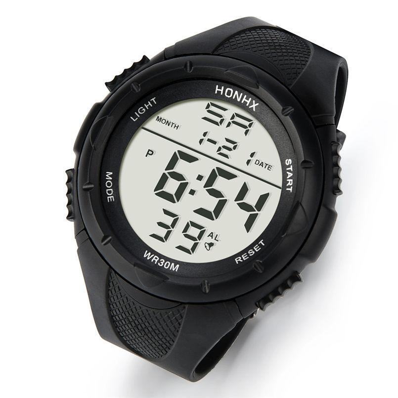 4dfc66d23 Compre Marca Caliente LED Reloj Para Hombre Digital Hombres Relojes  Deportivos 5ATM Nadar Escalada Moda Casual Casual Hombres Relojes De Pulsera  20 A $38.87 ...