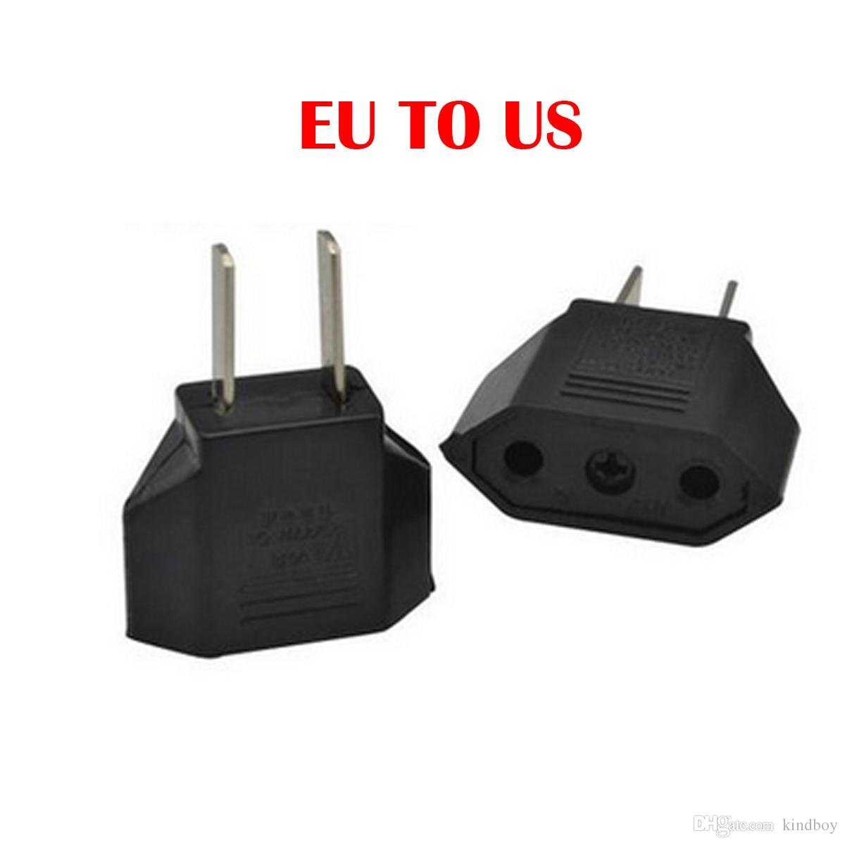 Universal European EU to US USA American Plug Converter Socket in Adapter Adaptor Travel Tomada de Parede Electrical Outlet