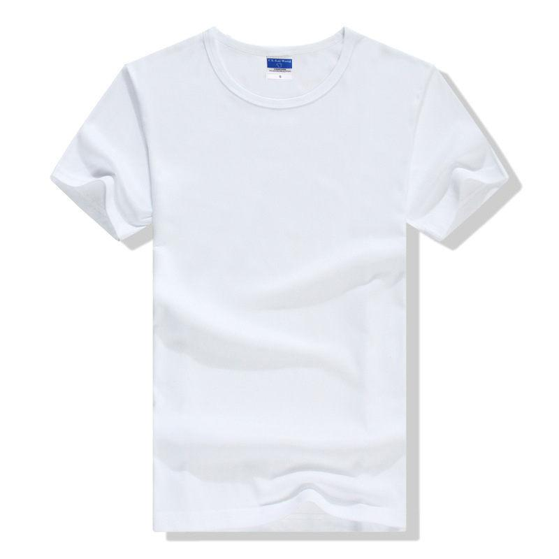 good quality Summer Men's T-shirt Blank T-shirt Fashion Simple Short Sleeved Cotton Lycra Color T-shirt In Korea