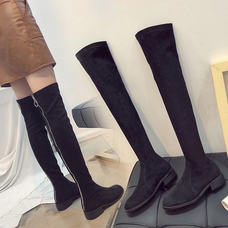 usa cheap sale fashion styles reasonably priced women platform shoes botte femme 2018 new woman boots over knee zipper  closure thigh high heels ladies booties spry waterproof