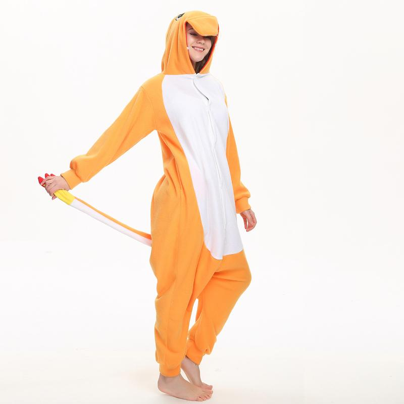 2019 Charizard Fleece Onesie For Adult Pajamas Cartoon Kigurumi