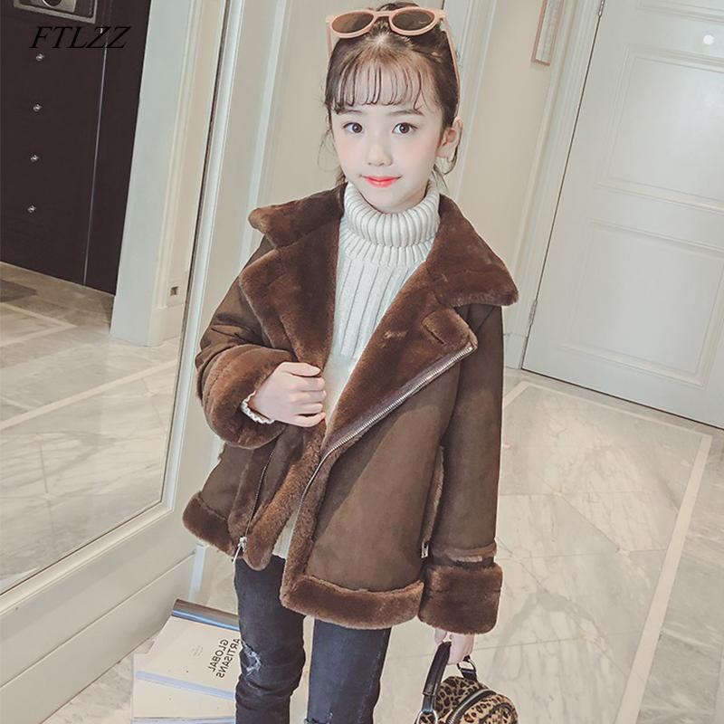 e4b6d49c8c05 FTLZZ 2019 Baby Girls Thicken Jacket Spring Winter Girls Coat Kids ...