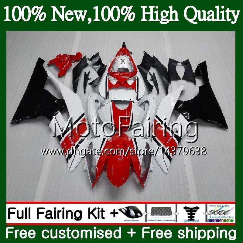 Kit Pour YAMAHA YZF600 YZFR6 08 12 13 14 15 16 YZF-R600 91MF24 Rouge Noir YZF R 6 YZF-R6 YZF R6 2012 2013 2014 2015 2016 Carénage de protection