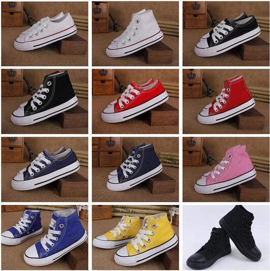 d54c2229c3 2019 Fabrika tanıtım fiyatı! Yeni marka çocuk kanvas ayakkabılar moda  yüksek düşük ayakkabı erkek ve kız spor kanvas ayakkabılar ve spor ...