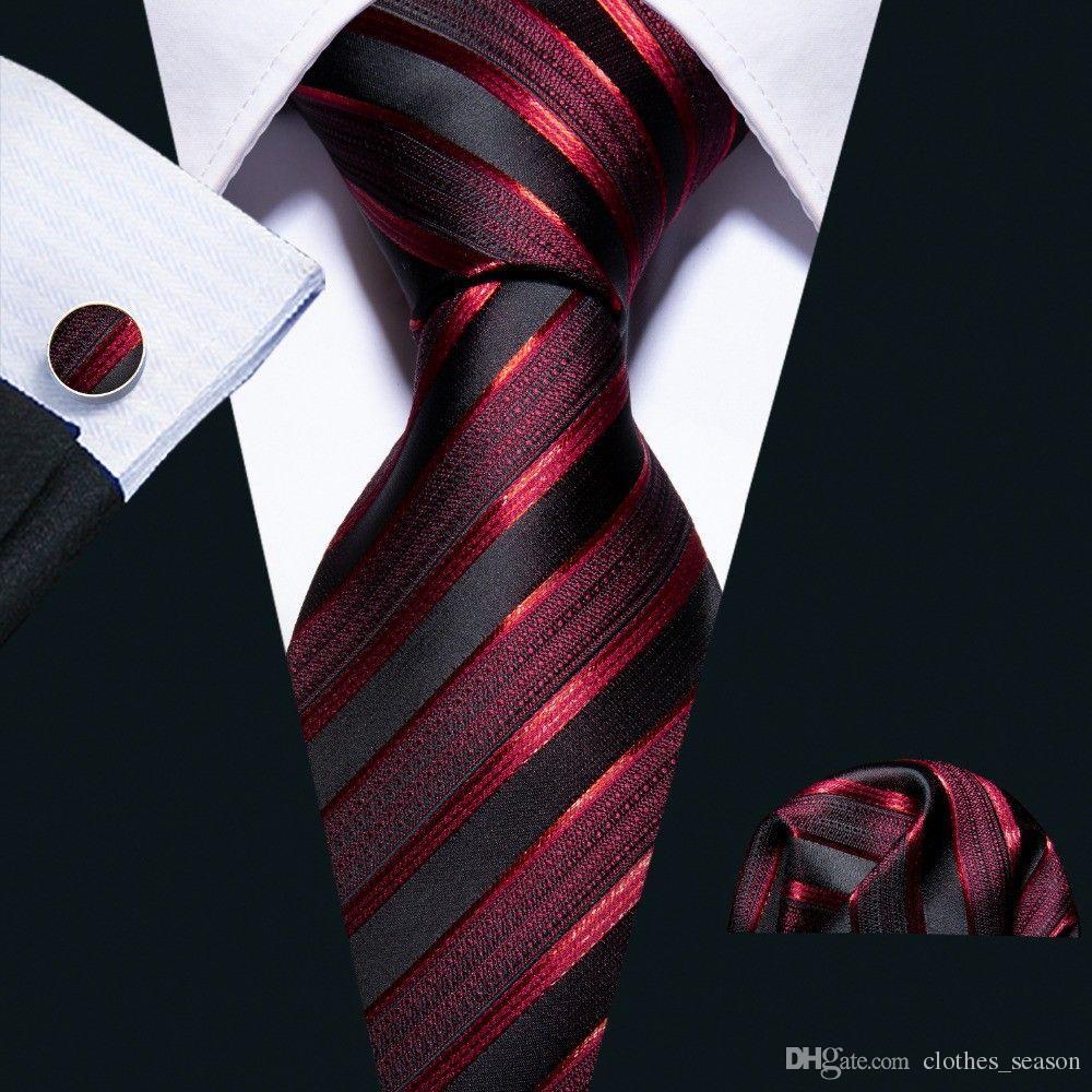 Mann 100% Seide Krawatten Für Herren Accessoires Schwarz Blau Weiß Rot Solide Striped Jacquard Geschäfts Hochzeit Krawatte Gravatas 8 Cm Bekleidung Zubehör