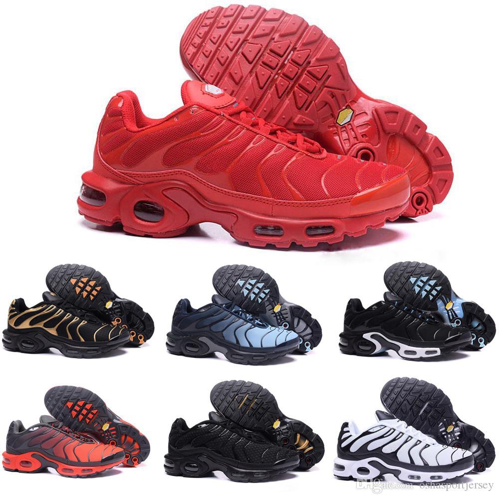 separation shoes ce1fc a8c4e Großhandel Nike TN Plus Air Max Airmax 2018 Neues Design Top Qualität TN  Herrenschuhe Atmungsaktives Mesh Chaussures Homme Tn REqUin Schwarz Casual  ...