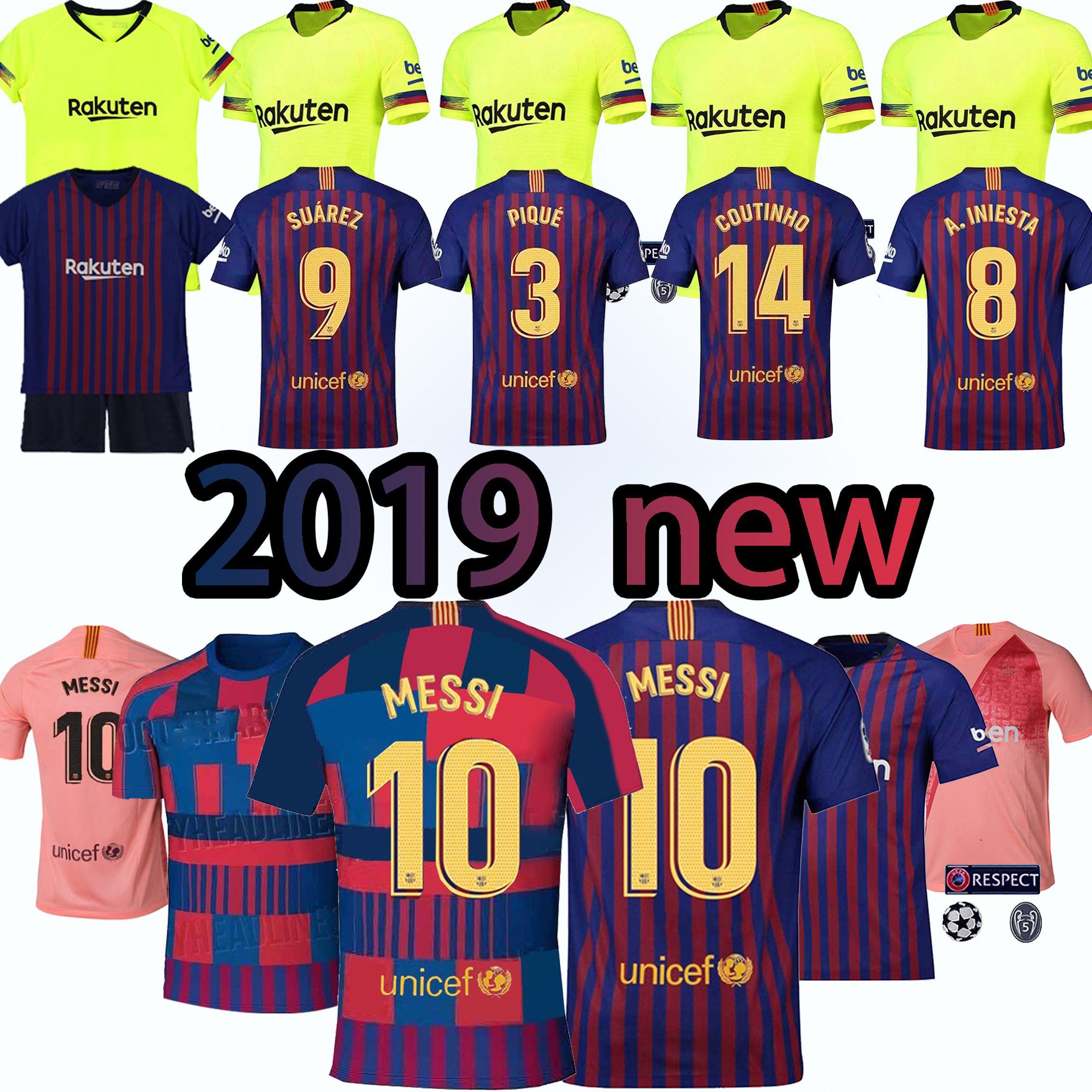 abffc40f1da 2019 Thailand Production MESSI Barcelona Football Clothing