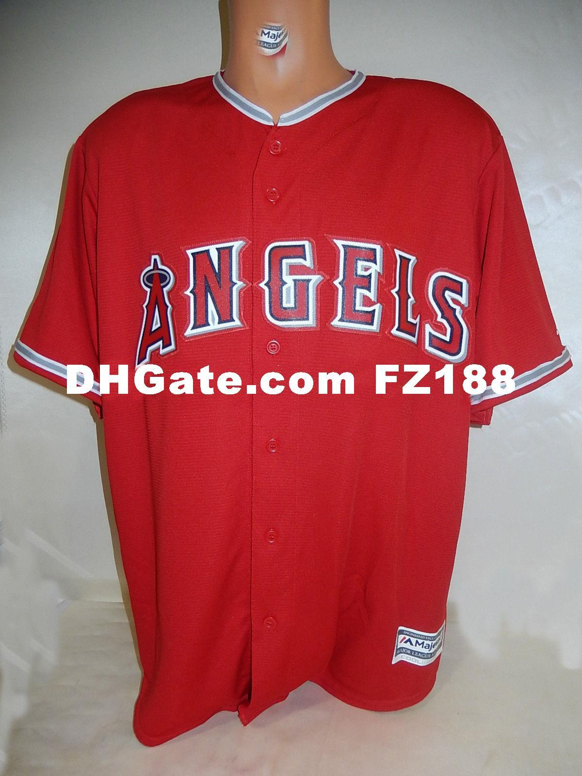 san francisco 9b9f1 832ad Cheap custom Top Top ANAHEIM blank COOL BASE shirt JERSEY RED New Mens  stitched jerseys Big And Tall SIZE XS-6XL For sale