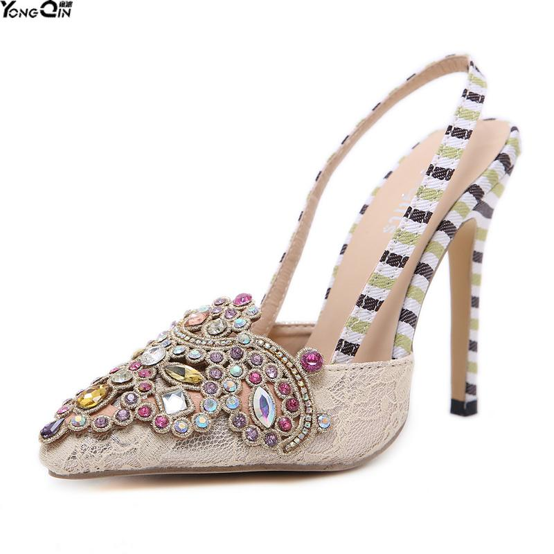622d54b512bc9f Rhinestone Women Pumps Fashion Classic High Heels Shoes Paltform Wedding  Women Dress Shoes Online with  55.05 Piece on Afantishoe s Store