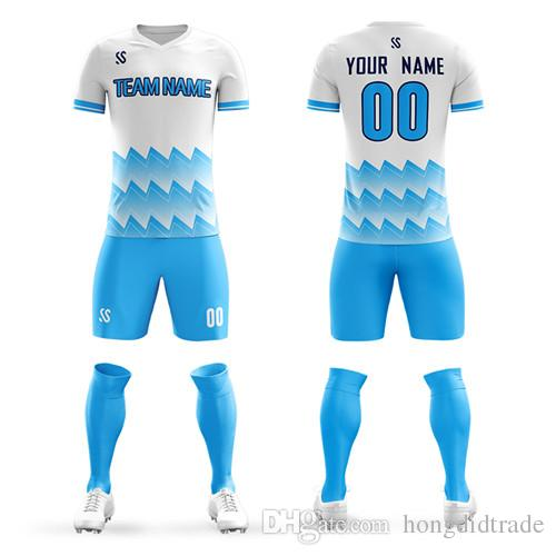 new product 79a4b 88056 Football Jersey Blank Plains Set DIY Your own team kit Customized  sweat-absorbent and quick-drying large size custom 6XL