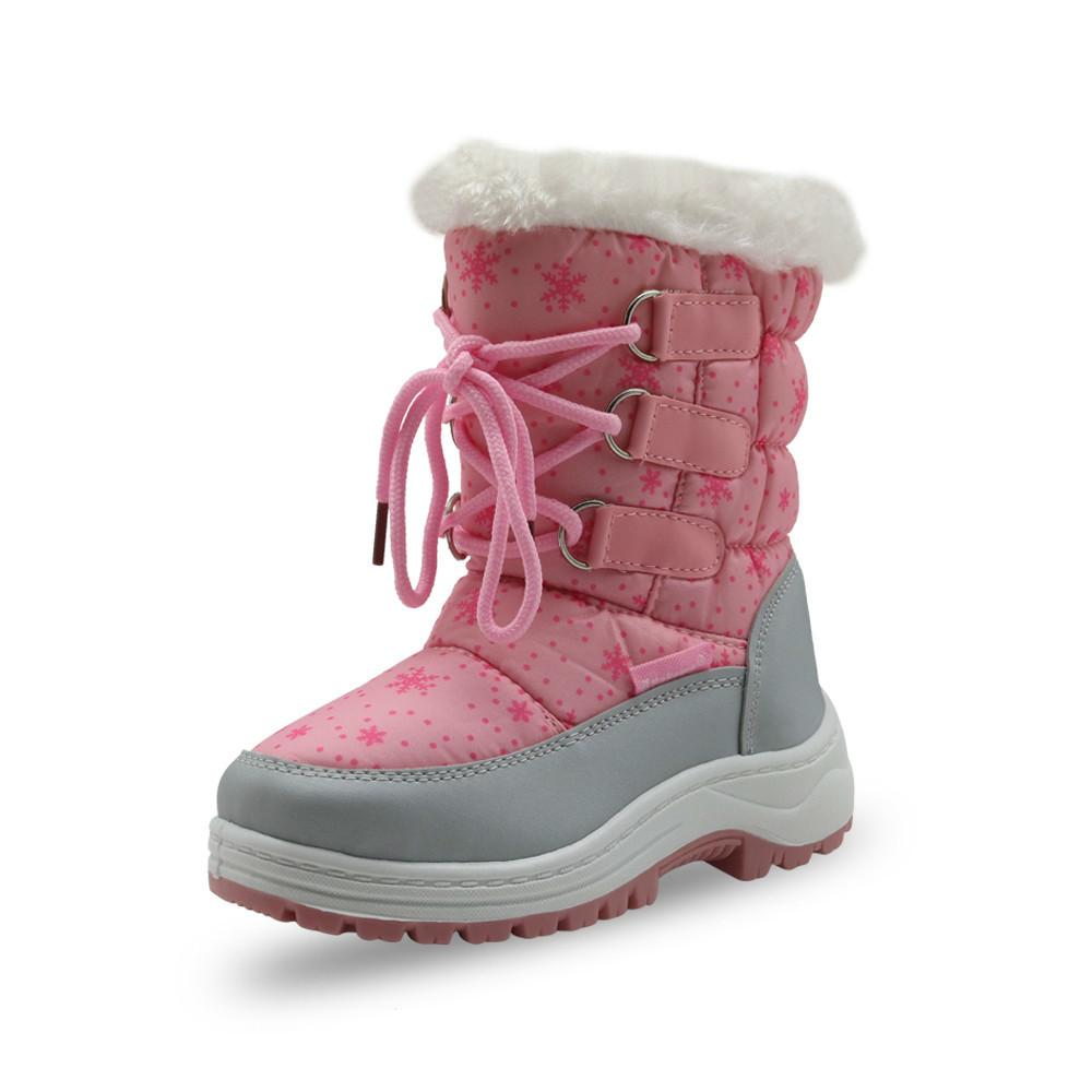 fde05f071c004f Acquista Winter Girls Mid Vitello Peluche Snow Boots Little Princess  Outdoor Durable Boots Con Zipper Toddler Kids Scarpe Antiscivolo A $50.77  Dal ...