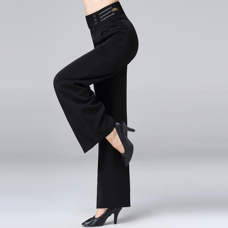 206e7e86c39669 Großhandel Ballsaal Latin Dance Hosen Damen Schwarz Hohe Taille Hose Frauen  Walzer Flamenco Praxis Performance Kleidung Dancewear DNV11217 Von  Happylights, ...