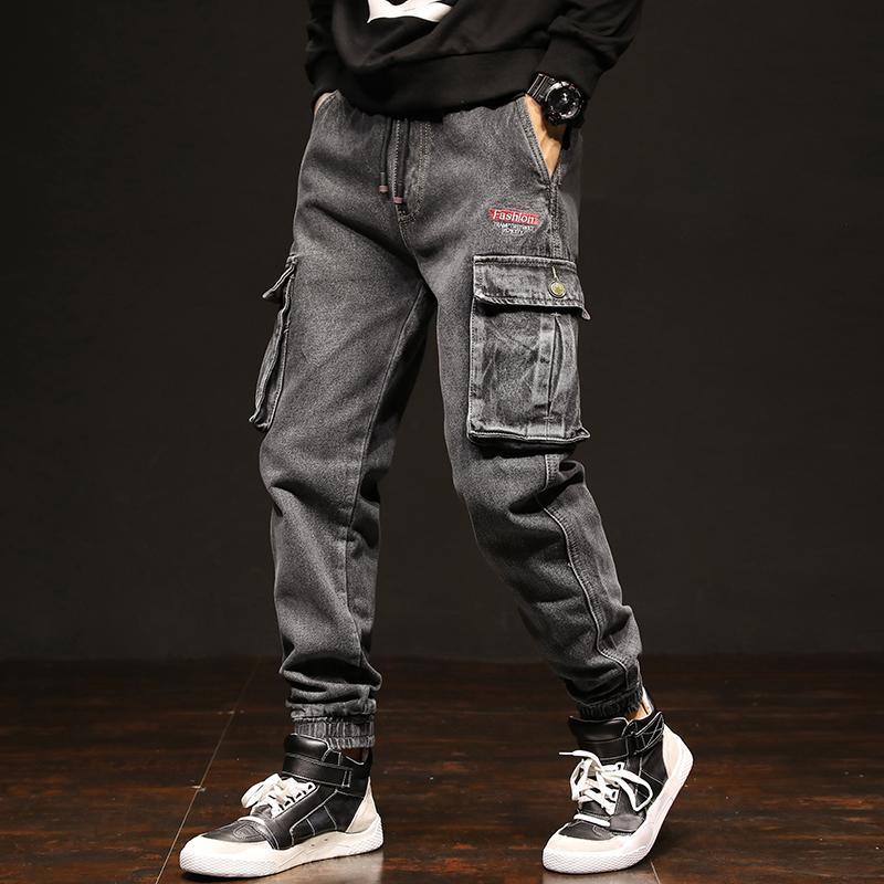 Acquista Jeans Nuovissimi Della Molla Degli Uomini Pantaloni Casuali Dei  Jeans Degli Allacciamenti Del Denim Di Dimensione Più Di Formato Casuale Dei  Jeans ... 7436892b0556