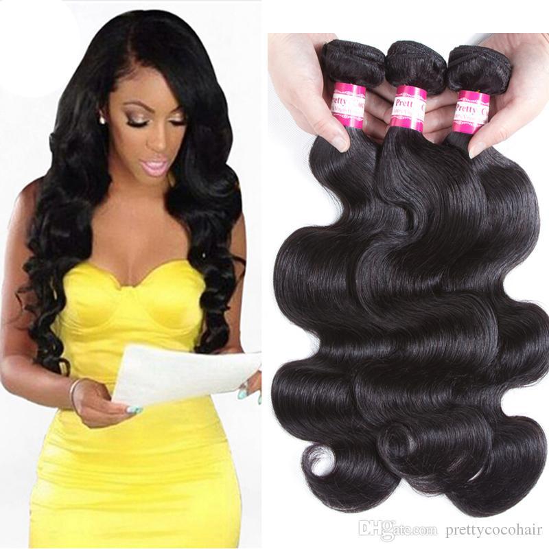 Reasonable Sapphire Brazilian Curly Wave 3 Bundles Deals 100% Human Hair Weave Bundles 100% Human Non Remy Hair Extension Brown Color 4# Human Hair Weaves Hair Extensions & Wigs