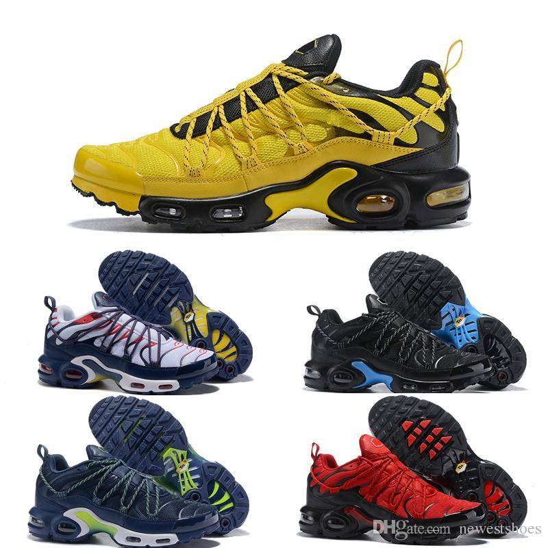 354d356fb6d701 Plus TN Ultra Men S Running Trainer Shoes Yellow White Red Black Green Blue  2019 New Men Sports Runner Designer Sneakers Size 40 46 Kids Running Shoes  Black ...