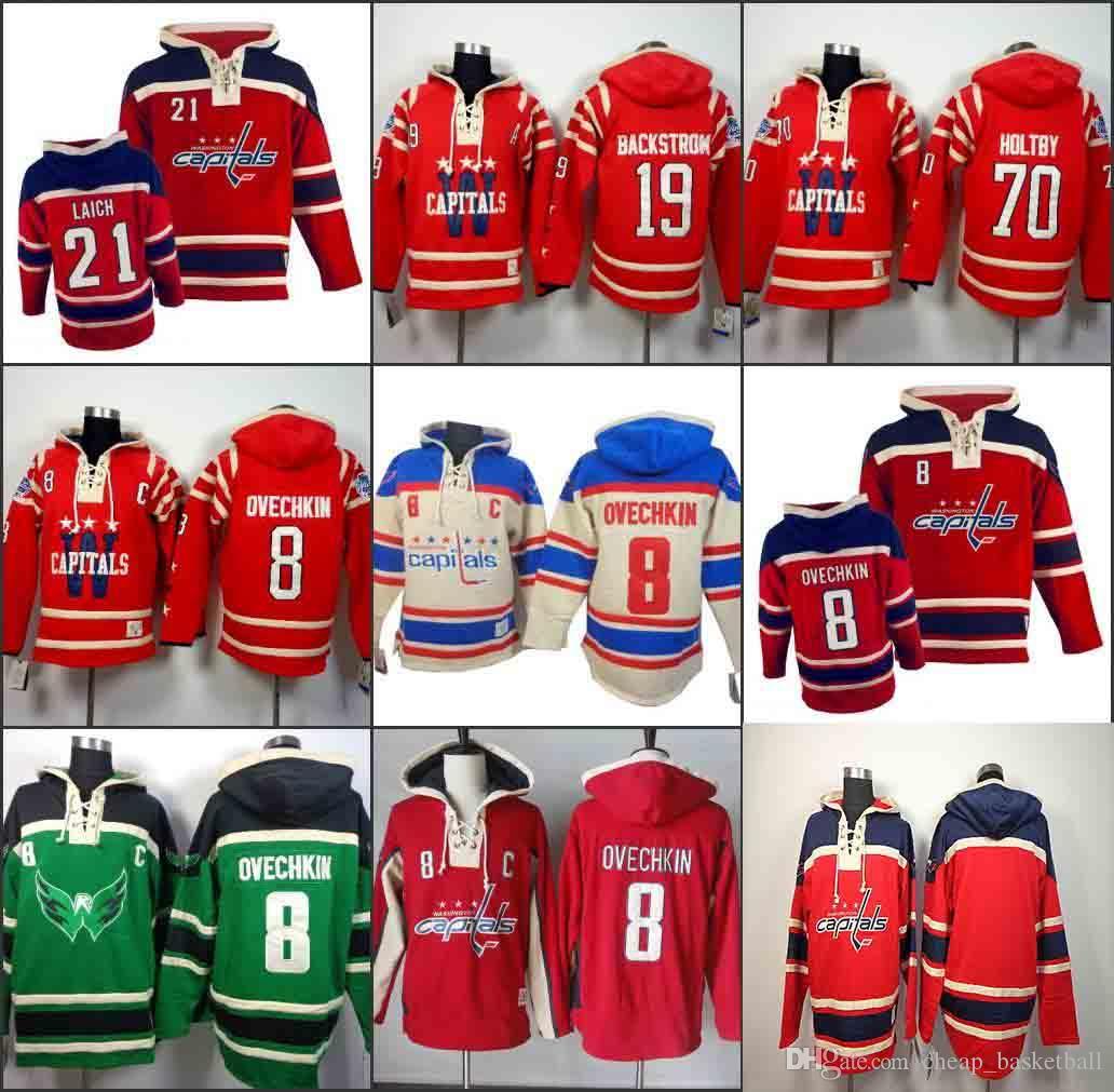 Men s Old Time Hockey Washington Capitals 8 Alexander Ovechkin 19 ... bc01a53b207dd