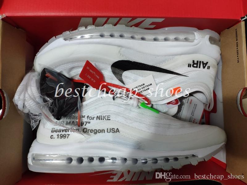 d2bcd936c2c OFF White X Nike Air Max 97 OW Virgil Alta Calidad OFF 97 OG Bullet  Zapatillas Para Hombre Air White Silver Metallic Maxes Gold Sports Athletic  Entrenadores ...