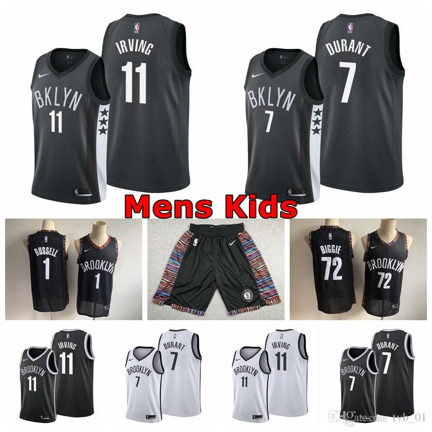 huge discount 29783 a1c40 2020 Edition Mens Youth Kids Nets 11# Kyrie Irving Swingman Jersey  Authentic Brooklyn 7# Kevin Durant Nets Basketball Jerseys Embroidery