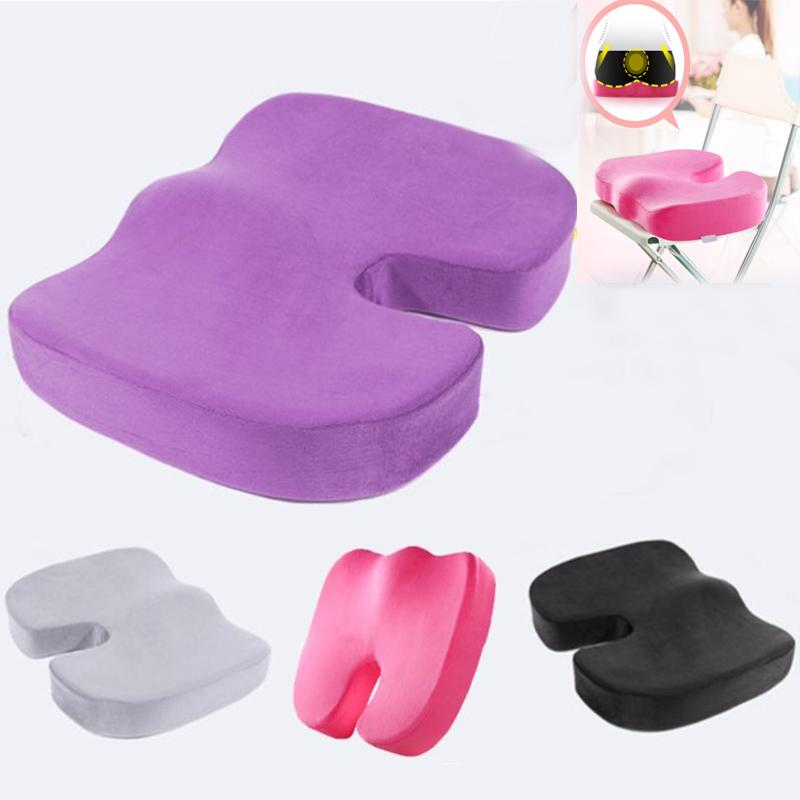 Seat Cushion For Back Pain >> Travel Seat Cushion Memory Cotton Cushion Office Chair Pad Car Seat Pillow Cushion Back Pain Sciatica Relief Sofa Sponge Cushions Hh7 322