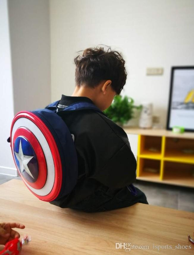 676bf6794d The Avengers Captain America Hard Shield Backpack Bag Student Bag Children S  Gift Agents Of S.H.I.E.L.D. For Boys And Girls Use  138815 Backpacks For  Girls ...