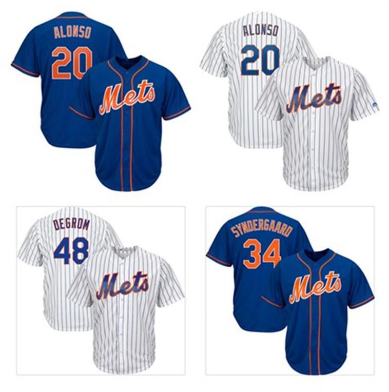 cheaper 27ef2 d1417 Benutzerdefinierte NY Mets Trikots für Herren Pete Alonso Jacob deGrom Noah  Syndergaard Mike Piazza Darryl Strawberry New York-Baseballtrikot von ...