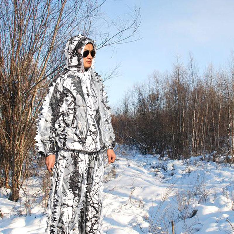 b6a7142176b2f 3D Snow Bionic Camouflage Ghillie Suits Winter Hunting Clothing ...