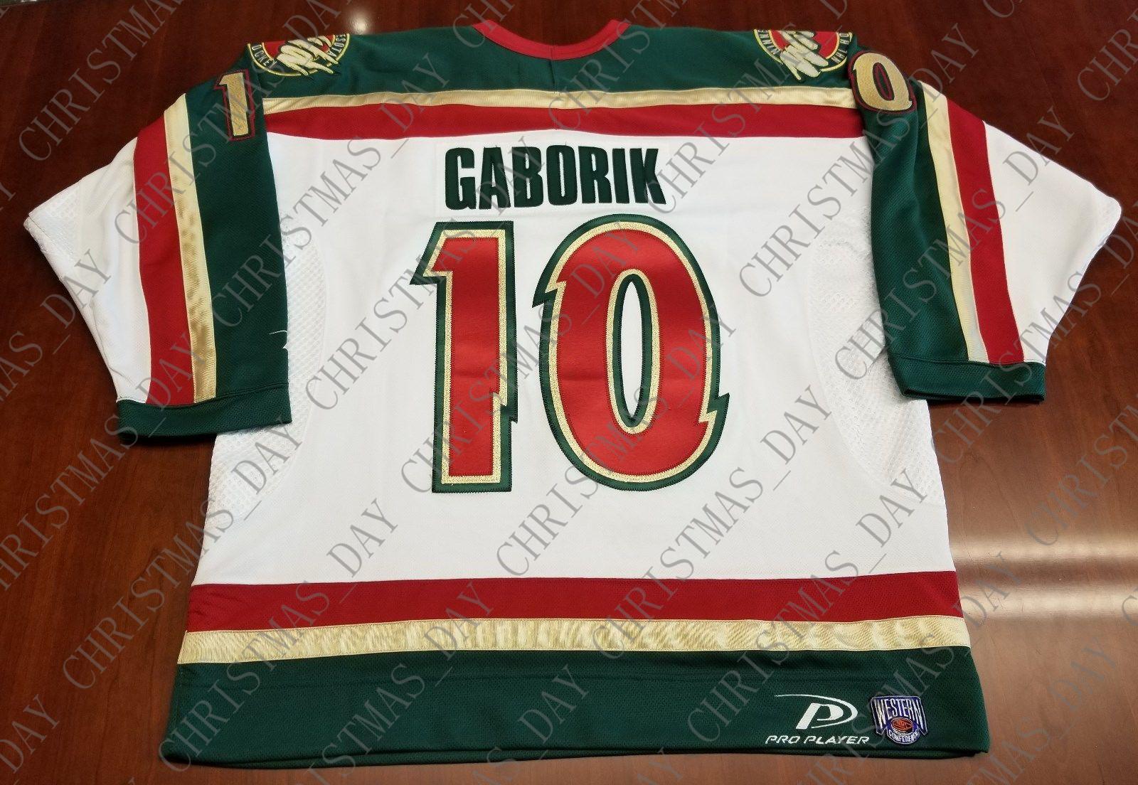wholesale dealer 8cde6 7d744 Cheap custom Marian Gaborik Vintage Minnesota Wild Pro Player Jersey  Stitched Retro Hockey Jersey XS-5XL