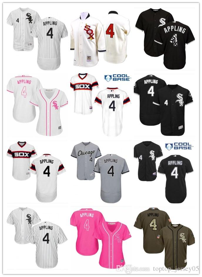 super popular 06726 bf46e 2018 top Chicago White Sox Jerseys #4 Luke Appling Jerseys  men#WOMEN#YOUTH#Men s Baseball Jersey Majestic Stitched Professional  sportswear