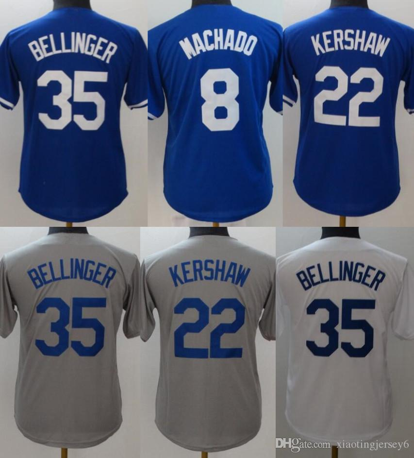 2019 High Quality 35 Cody Bellinger Youth Jersey 22 Clayton Kershaw 8 Manny  Machado 10 Justin Turner 66 Yasiel Puig Kids Jersey Size  S XL From ... 38e0506e3e6