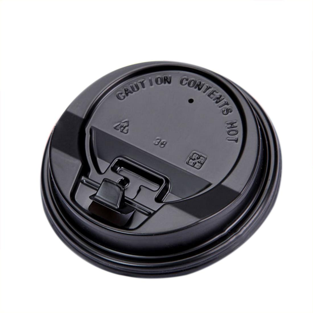 700pcs 8cm Disposable Paper Cups Lid Thicken Dome Switch Lid 8oz disposable Paper cups lids Black disposable lidding free shipping
