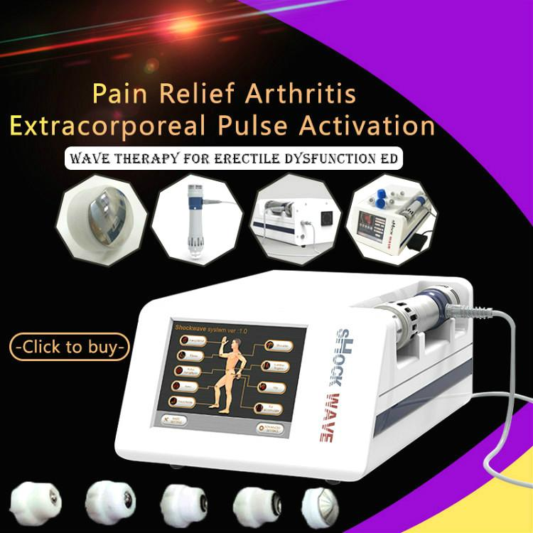 2020 The Most Popular Equipment Shock Wave Therapy Equipment Body Pain Relief ED Treatment Shock Wave Massage Therapy Machine