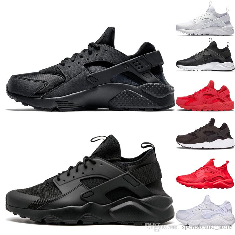 official photos 782c5 e6cda Acquista Nike Air Huarache Shoes Designer Huarache 1.0 4.0 Mens Donna  Scarpe Da Corsa Huaraches Triple Bianco Nero Rosso Grigio Huaraches Outdoor  Runner ...