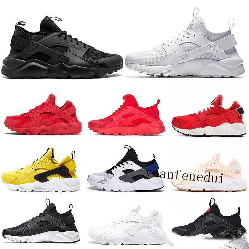 47f805578817 2019 2019 Ultra Huarache 4.0 1.0 Running Shoes Triple S White Black  Classical Red Pink Men Women Huaraches Outdoor Trainer Sports Sneakers From  Yuanfenedui