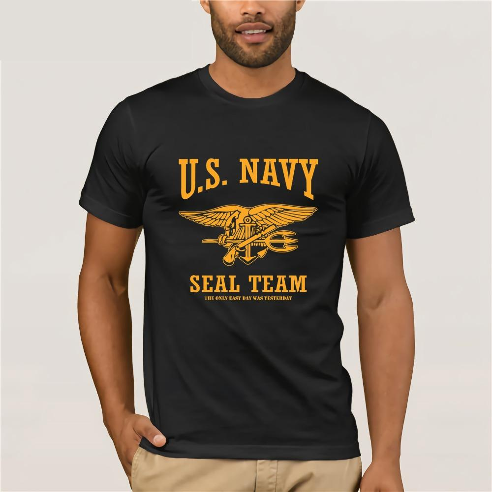 2019 nuovo T-shirt stile di stampa Estate Marca fitness americano Navy Seal T-shirt L'unica Facile giorno era T-shirt Ieri