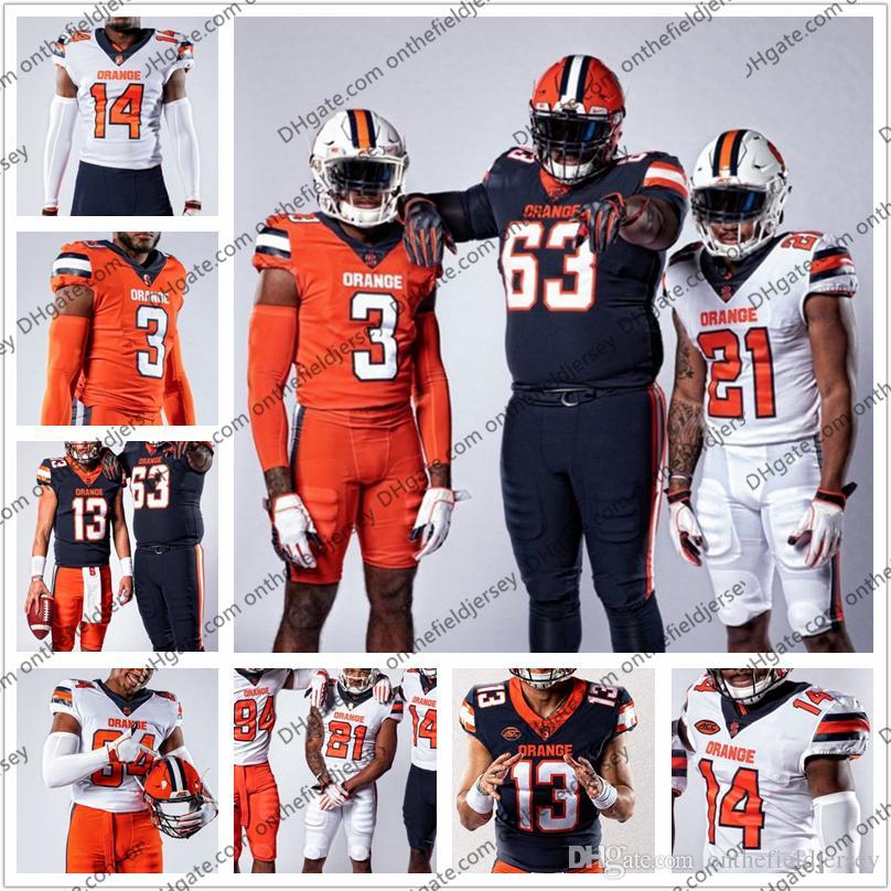 another chance 325a4 668c9 Custom Syracuse Orange 2019 New Football Jersey Retired 5 Donovan McNabb 39  Larry Csonka 44 Jim Brown 72 Tim Green 88 John Mackey