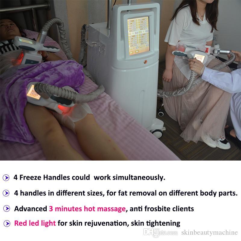 4 maniglie Cryolipolysis grasso congelamento macchina fredda Loss Body Shaping crioterapia dimagrante Lipolaser cavitazione Cellulite riduzione di peso