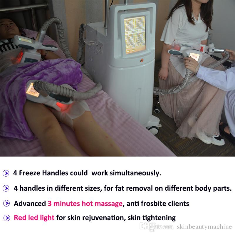 Cryotherapy Cryo Lipo Treatment 4 cryo handles cool Freezing Fat Cryotherapy Body Contouring Machine clinic use