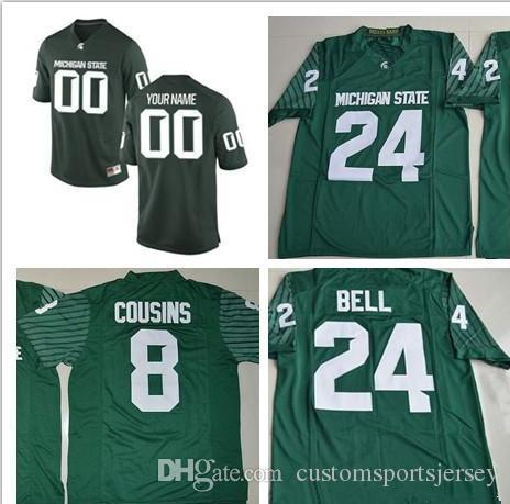 new styles b2072 27964 Custom Michigan State Spartans College Football Jersey Mens Limited green  Personalized Stitched Any Name Any Number #8 #24 40 Jerseys XS-5XL