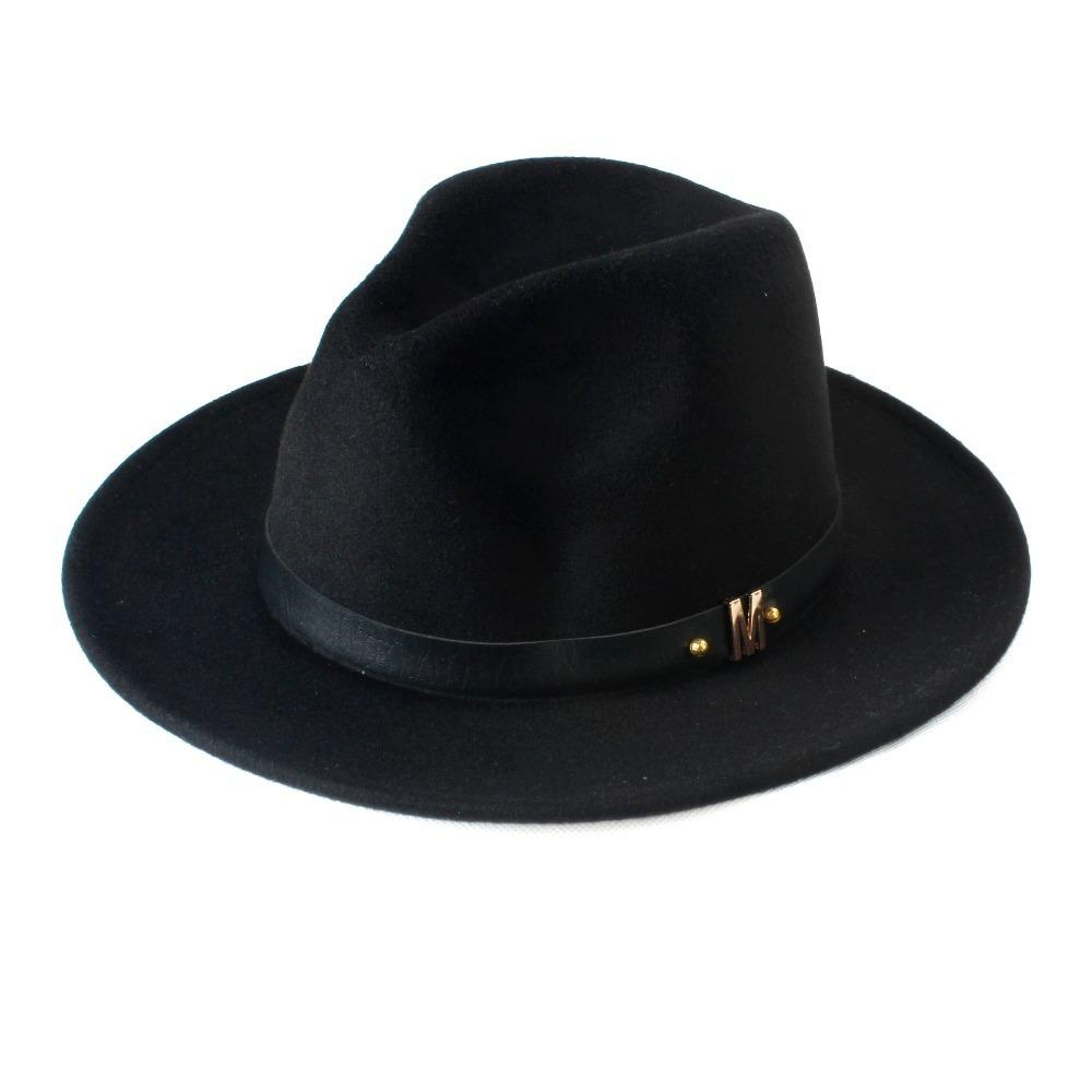 718cd3a995301 New Fashion Wool Women S Black Fedora Hat For Laday Woolen Wide Brim Jazz  Church Cap Vintage Panama Sun Top Hat 20 D19011102 Bowler Hat Panama Hat  From ...