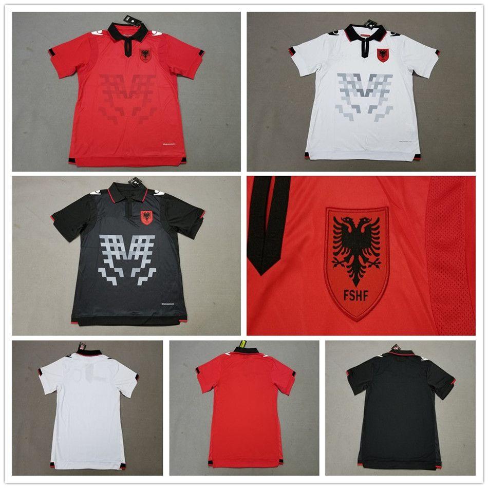 81476f113 2019 2018 2019 Republic Pf Albania Soccer Jerseys Home Thomas Strakosha  Berat Djimsiti Enis Gavazaj Taulant Xhaka White Black Football Shirts From  ...