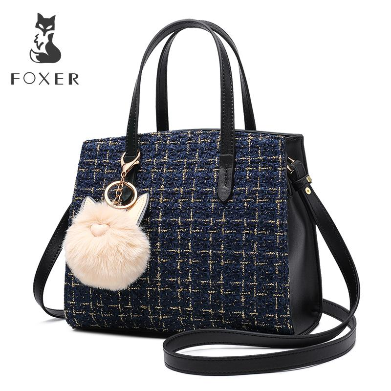 93794661b5 FOXER Brand New Arrival Female Fashion Design Totes   Handbag Women Chic Shoulder  Bags Girl S Kawaii Crossbody Bags For Lady Evening Bags Handbag Sale From  ...