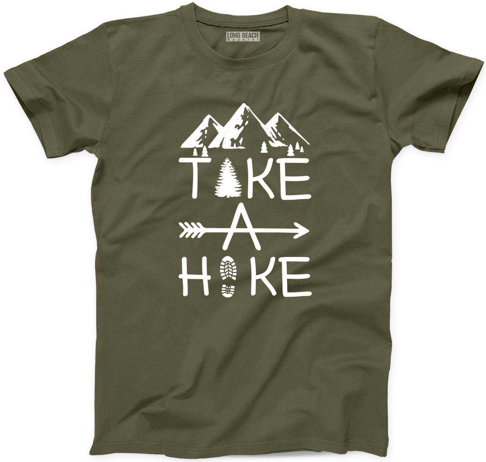 41c9128c359 Take A Hike T Shirt Funny Hiker Happy Camper New Adventure Mountain Graphic  Tee Funny Unisex Casual Tshirt Band T Shirts T Shirt Designs From  Blue water