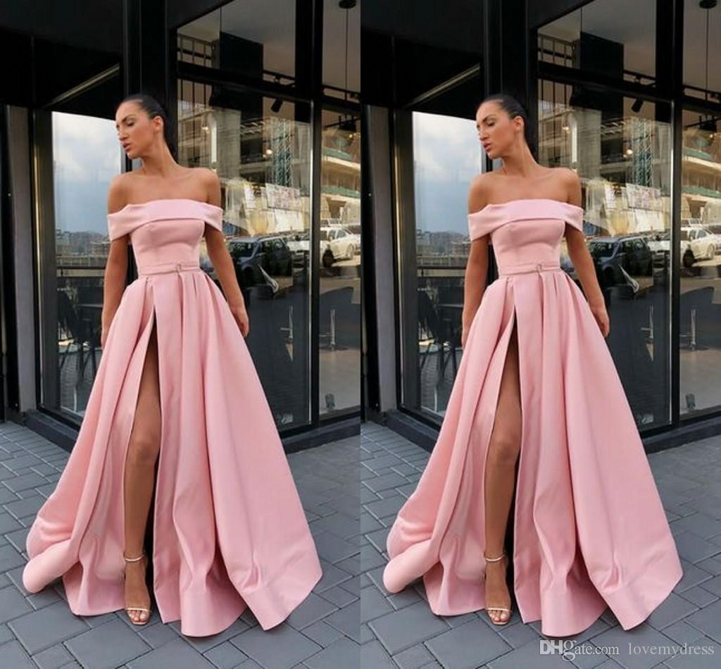 d112d722e Compre Fuera De La Hendidura Del Hombro Vestidos Para Ocasiones Especiales  Largos 2019 Vestidos Con Espalda Abierta Vestidos De Noche Vestidos  Formales ...